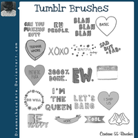 Brushes Tipo Tumblr #2 by DreamsChocolate