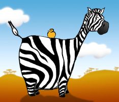 zebra by floflo