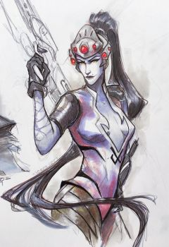 Widowmaker Sketch by Yuroboros