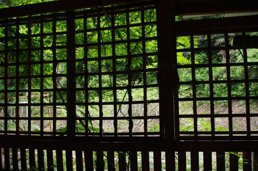 Lattice of teahouse by miki0412