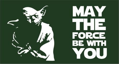 May the Force be with You | Yoda Flag by OSFlag