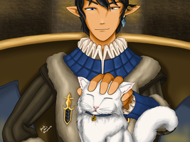 FFXIV - A Cat for Ser Aymeric by ayarane