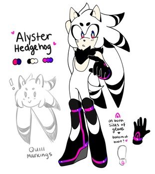 Alyster the Hedgehog by Toketsuu
