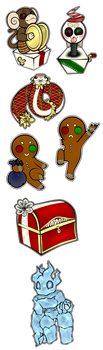 Christmas-themed DnD Mobs by MusicalBloodDrop