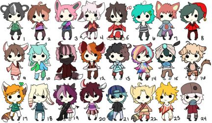 30 points Adoptables batch (open) by isayuku