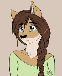 Sad Coyote by FairDahlia