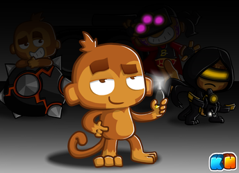 Dart Monkey by KingHeron