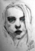 Girl of Charcoal (3) by Vangega