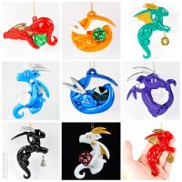 Dragon Ornament Sampler by HowManyDragons