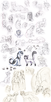 Mega Sketch Dump by DoeKitty