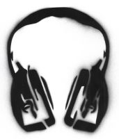 head phones stencil by mkonji