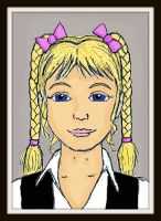 Melian Colored Portrait With Frame July 21  2015 by Magictron3000