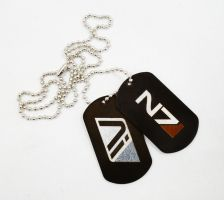 Alec Ryder's dog tags by Katlinegrey