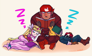 Alfonzo's lap is comfortable apparently by SeaboardBlue