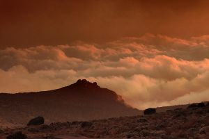 Sunset, Karanga Camp, Kili by ukwreckdiver
