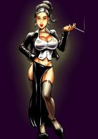 Lady F coloured by Bielegraphics