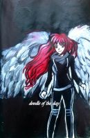 #141 Some kind of angel by LateAMdoodles