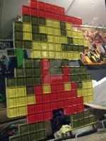 8-bit Mario Glass Tile
