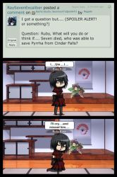 Gacha Studio: Question for Ruby Rose by MegaAli