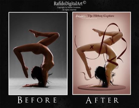before-after RIBBON GIRL by Rafido