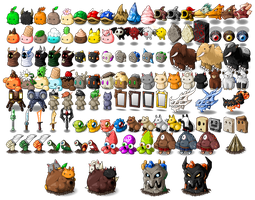 EBF5: Foe Map Sprites by KupoGames