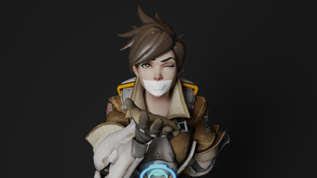Tracer Blowing a Gag Kiss by TheBlenderTaper