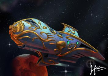 C - Art Nouveau Starship by Hedrick-CS