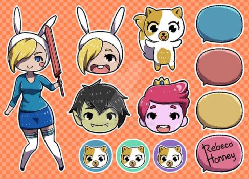 Adventure Time Fionna Version + Speed Paiting by Rebeca-Honney