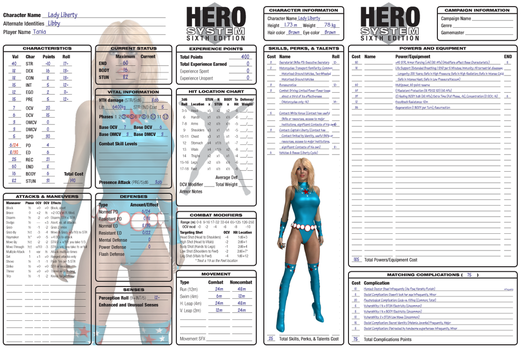 Lady Liberty Character Sheet by ladytania