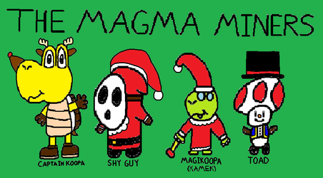 The Magma Miners - Christmas Costumes by StevenPepi