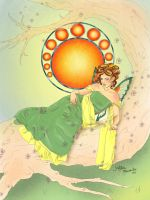 The Lounging Nouveau Fairy by Ariana-Blossom