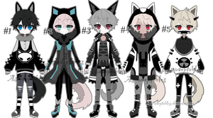 Gothic kemonomini adoptable batch closed by AS-Adoptables