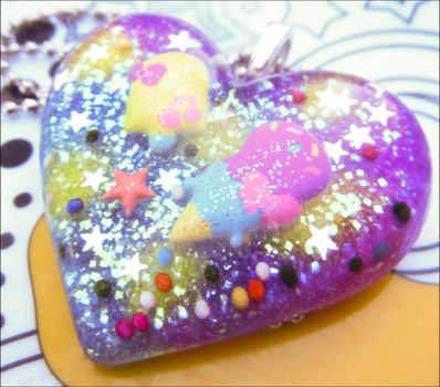 Sugary Goodness Resin Necklace by elephont