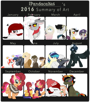 2016 Summary of Art - iPandacakes by iPandacakes