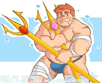 trident and fundoshi by xxxveebee