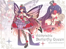 [close]Adoptable : Butterfly Queen04 by LoliGhost