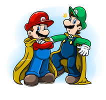 Gift: Caped Fearless Plumbers by Nintendrawer