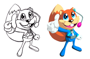 Young Conker redesign 2 by PicsAndPixels