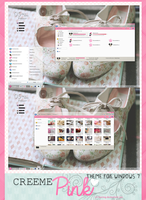 Creeme{pink} theme for windows 7 by a-Rawring