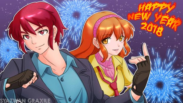 HAPPY NEW YEAR 2018! by Graxile