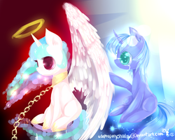 MLP The curse that divides us Celestia and Luna by AquaGalaxy