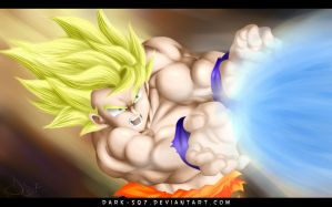 Rage of Super Saiyan by Dark-Sq7