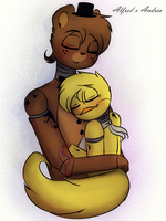 Withered Freddy X Withered Chica by Crazy-Matroskin55
