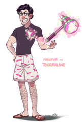 Gemsona - Markiplier as Tourmaline by scribblywobbly