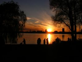 silhouettes  in sunset by rockmylife