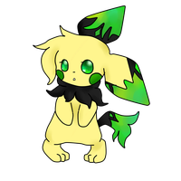 ADOPTABLE: Emerald Pichu by LemonLimeCrime