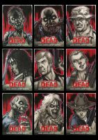 Walking Dead Comic Book Sketchcards 1 by Guy-Bigbelly