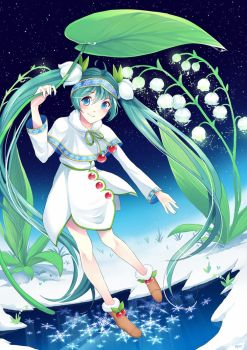 Snow Miku 2015 by Puffyko