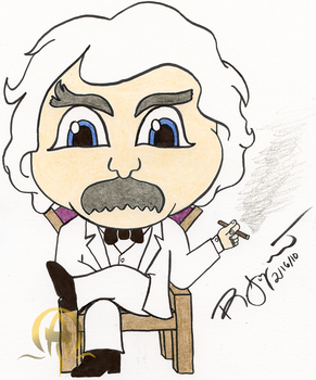 Mark Twain Chibi by rjoyhelvie