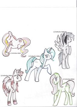 Element Pony Adopts by chococatlover365